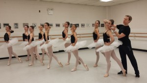 Ballet variations class with JCC instructor, Justin Sherwood